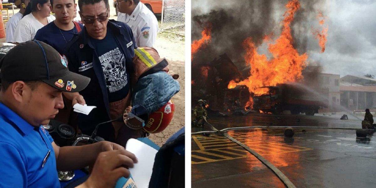 Domino's entrega pizzas a los cuerpos de socorro que atendieron el incendio en una planta de gas