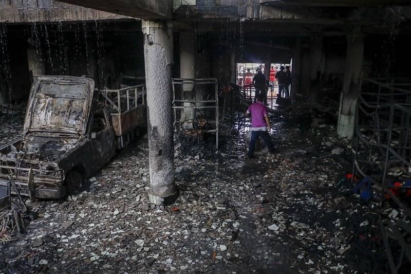 Incendio de barrio Carlos Marx