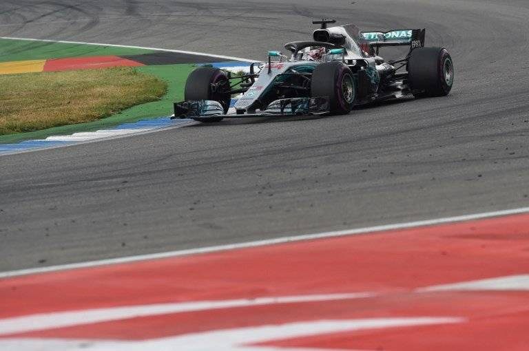 Hamilton durante el GP de Alemania