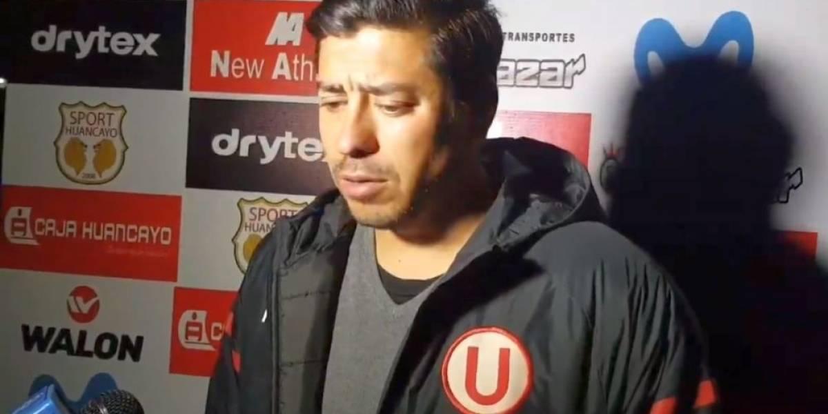 Nico Córdova tuvo un mal estreno en su nueva aventura en el fútbol peruano