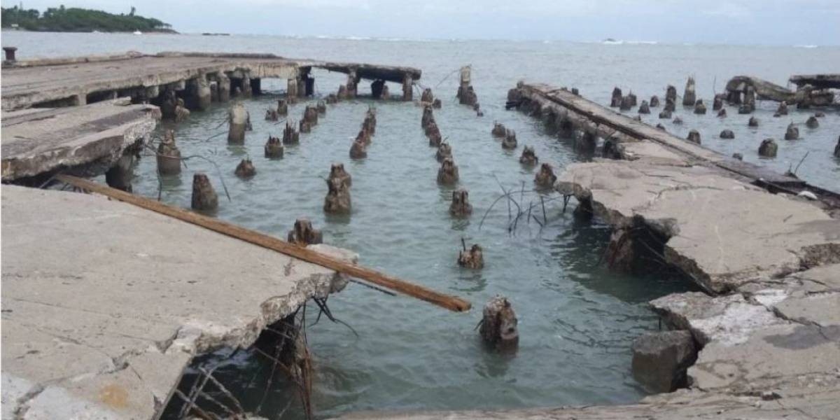 Advierten muelle en Puerto Plata se cae a pedazos