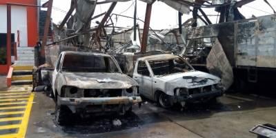 Incendio en planta de gas