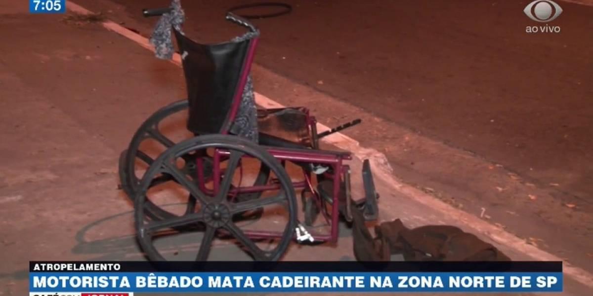Motorista bêbado atropela e mata cadeirante na zona norte de SP
