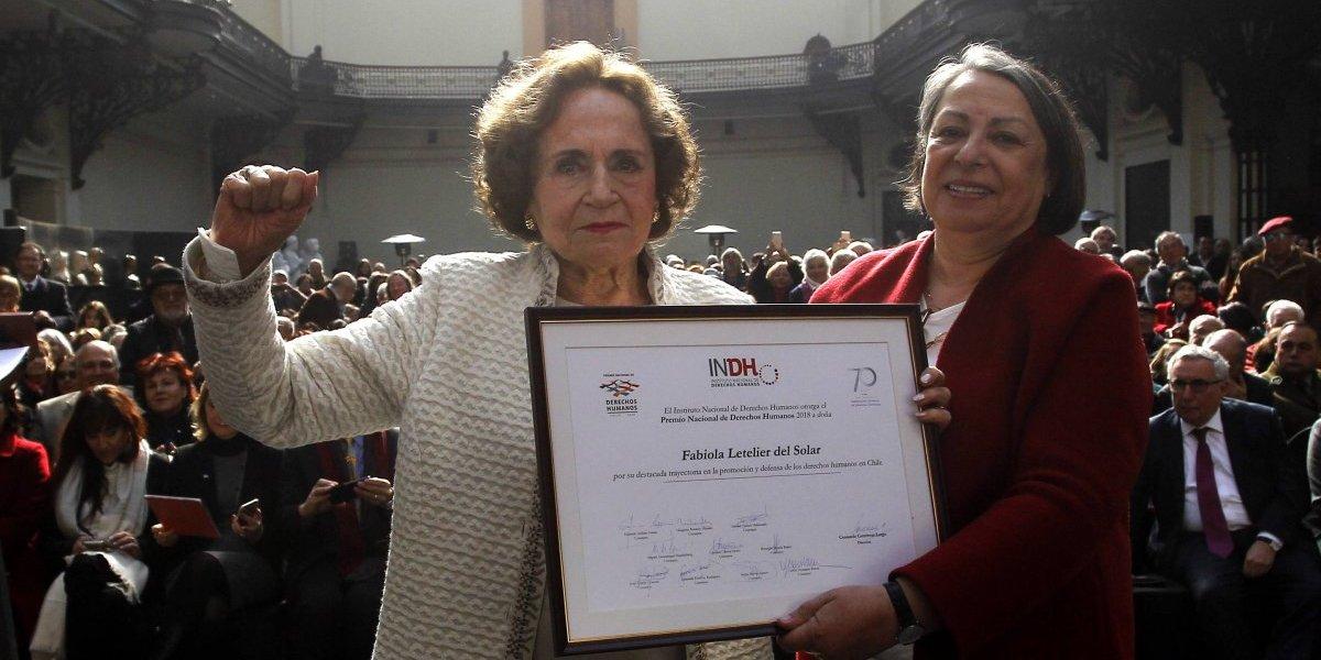 Por su trabajo en la búsqueda de la verdad: Abogada Fabiola Letelier recibe Premio Nacional de Derechos Humanos 2018