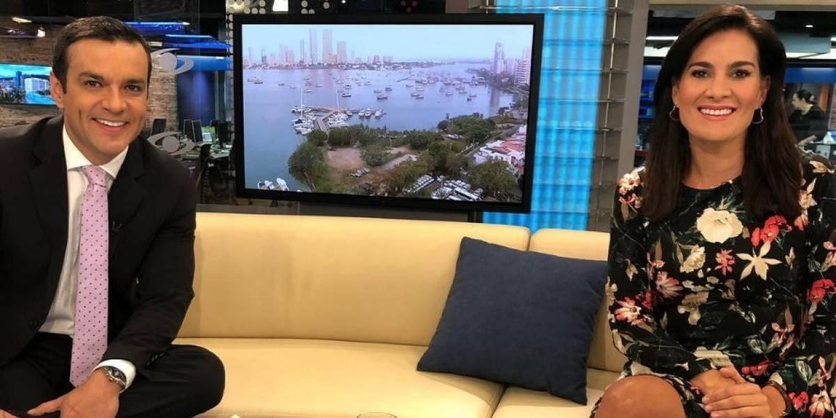 ¡Vanessa de la Torre salió al aire con la 'coca' del almuerzo en 'Noticias Caracol'!
