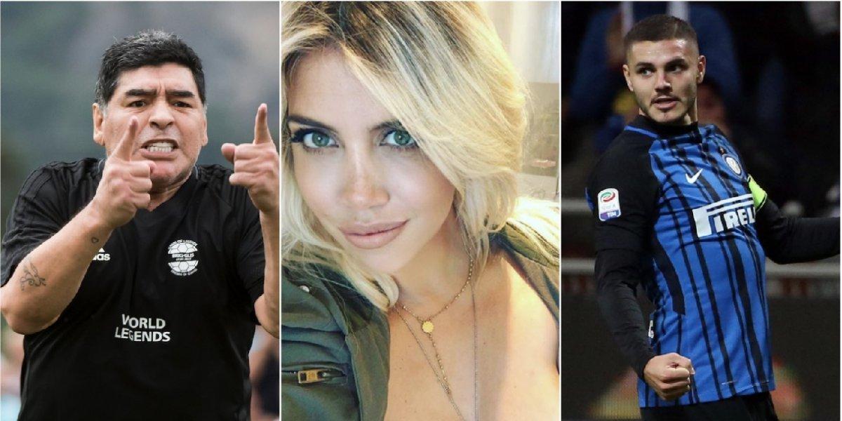 Diego Maradona habría sostenido una relación íntima con esposa de Mauro Icardi
