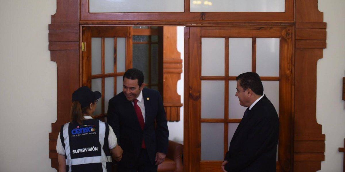 Presidente Jimmy Morales, el primer ciudadano censado en el país