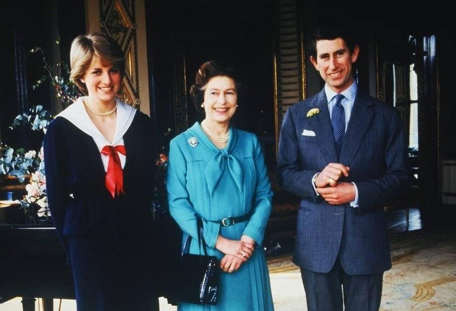 princesa Diana y reina Isabel