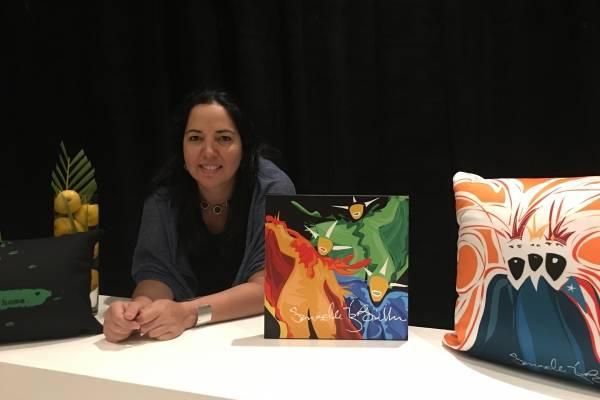 La serigrafista Saribelle Muñoz Bonilla
