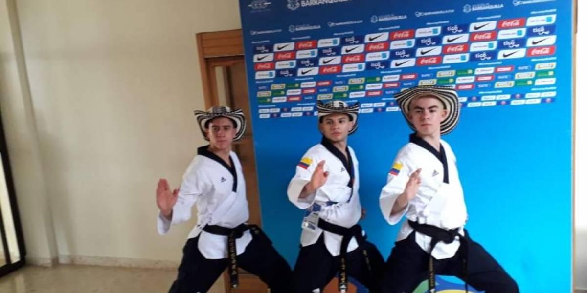 En video: Gran emoción del equipo colombiano, al ganar oro en Taekwondo, en Centroamericanos