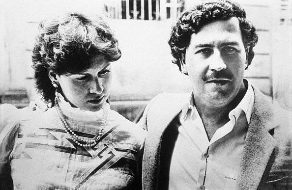 Pablo Escobar con Maria Victoria en 1983 Getty
