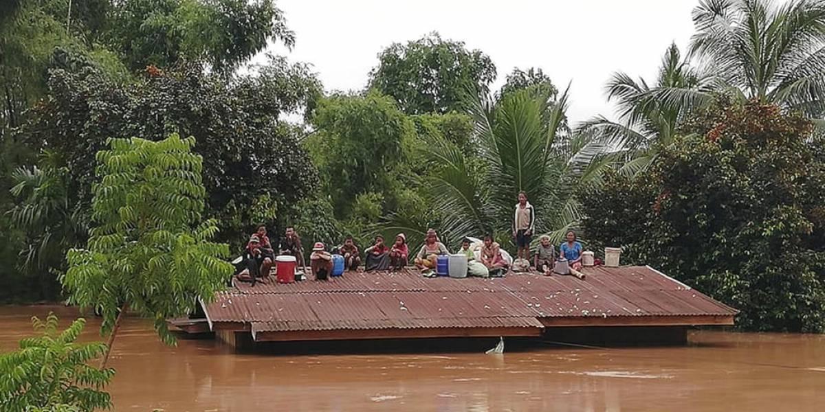 Cientos de desaparecidos tras ruptura de una represa en Laos