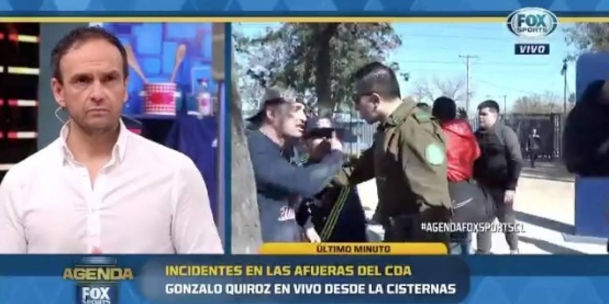 Equipo de Fox Sport Chile es agredido a las afueras del CDA tras balacera