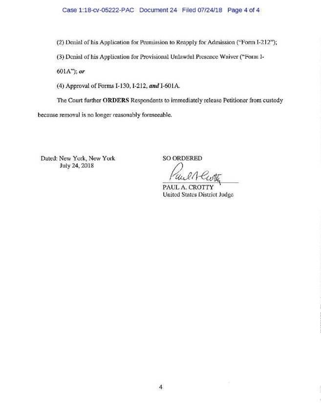 Juez federal de Estados Unidos ordena liberar a Pablo Villavicencio Cortesía Twitter