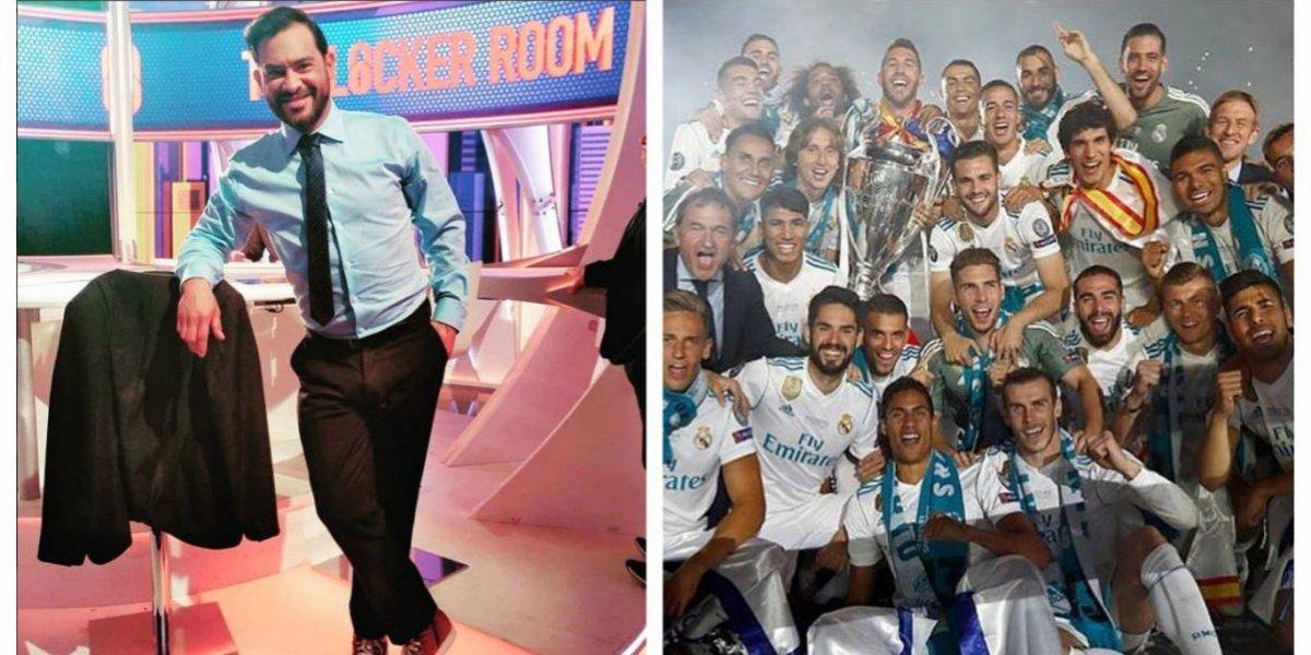 Estrella del Madrid visita a Carlos Ruiz en el set y pronto llegará a Guatemala