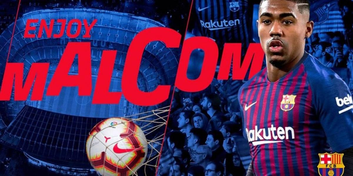 Barcelona 'atravessa' a Roma e contrata o atacante Malcom, ex-Corinthians