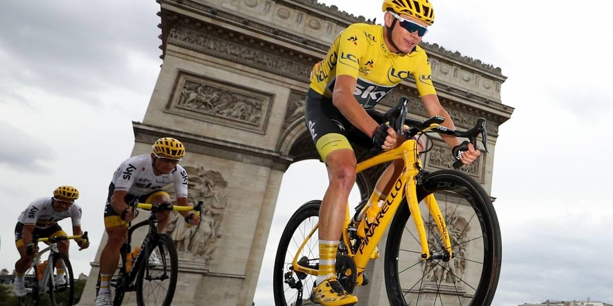 Interrumpen Tour de Francia por gas lacrimógeno