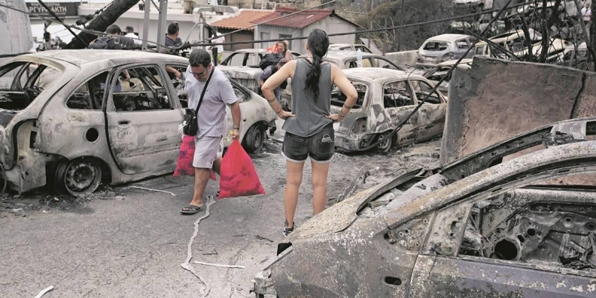 Tragedia griega por incendios forestales