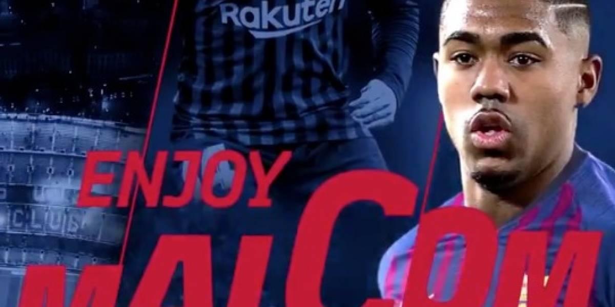 Malcom llega como nuevo refuerzo al Barcelona