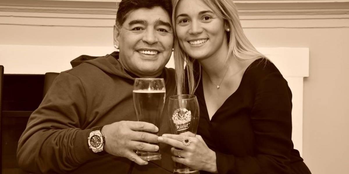 Maradona organiza una fiesta privada y termina con un romántico desenlace