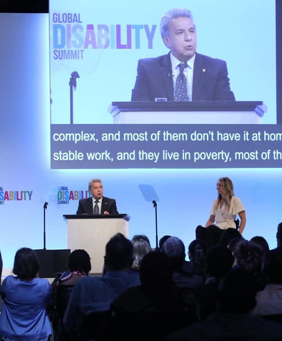 Lenín Moreno promueve en Londres sus políticas para personas con discapacidad Presidencia Ecuador
