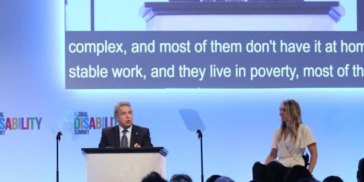 Lenín Moreno promueve en Londres sus políticas para personas con discapacidad