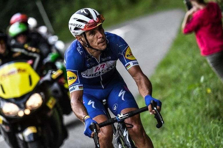 Philippe Gilbert pudo terminar la etapa 16