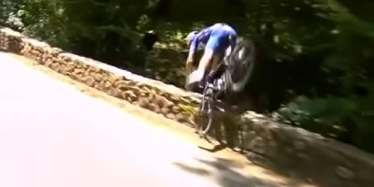 VIDEO: Ciclista belga se salvó, tras impresionante caída en el Tour de Francia