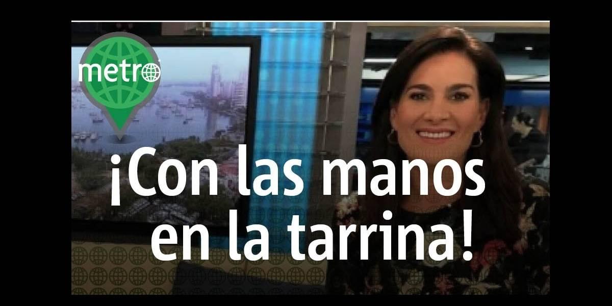 Presentadora colombiana, Vanessa de la Torre salió al aire con su almuerzo en Noticias Caracol