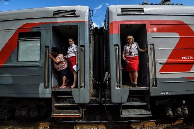 Un tren en la ciudad rusa de Raransk