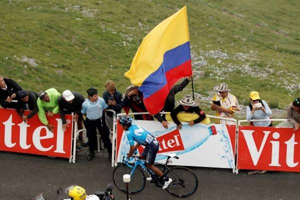 Mensaje de Nairo Quintana en el Tour de Francia