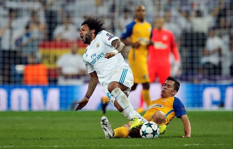 Agustín Farías jugó ante el Real Madrid por Champions League con el APOEL / Foto: AP
