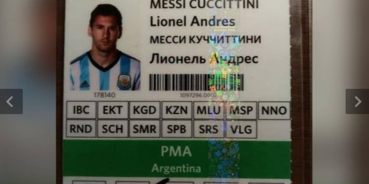 Acreditación de Messi para la Copa Mundial 2018 se vende por miles de dólares