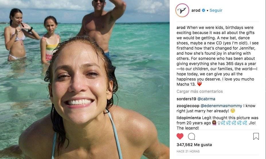 JLO Instagram Alex Rodríguez