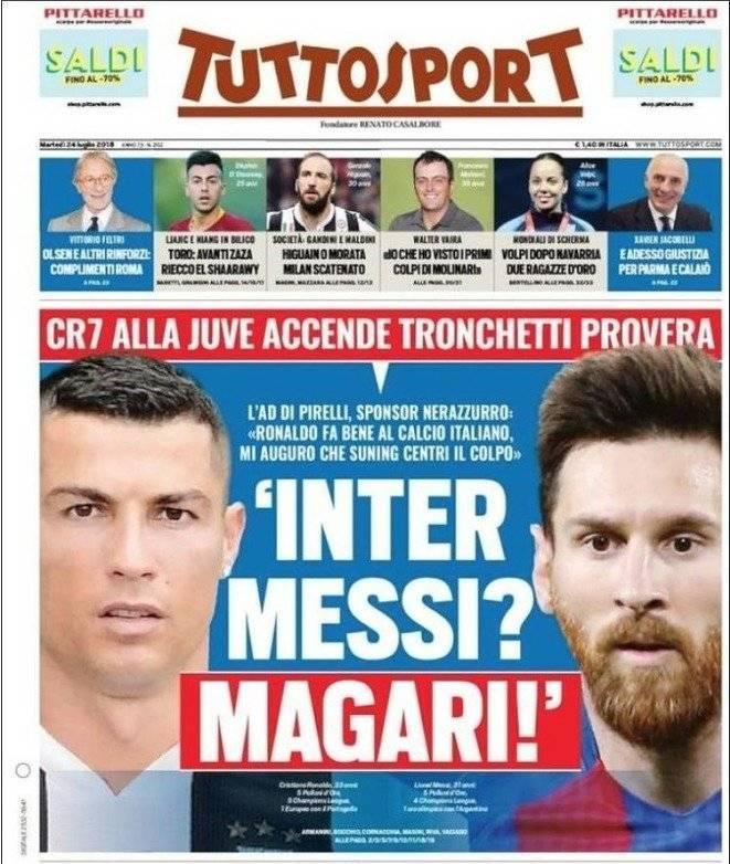 Portada de Messi contra Cristiano Ronaldo