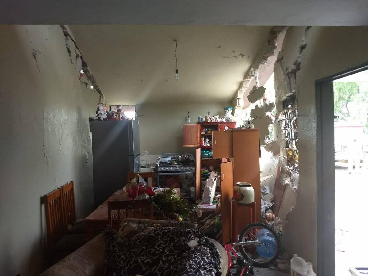 Explosión de finca por explosión de tanque de gas LP