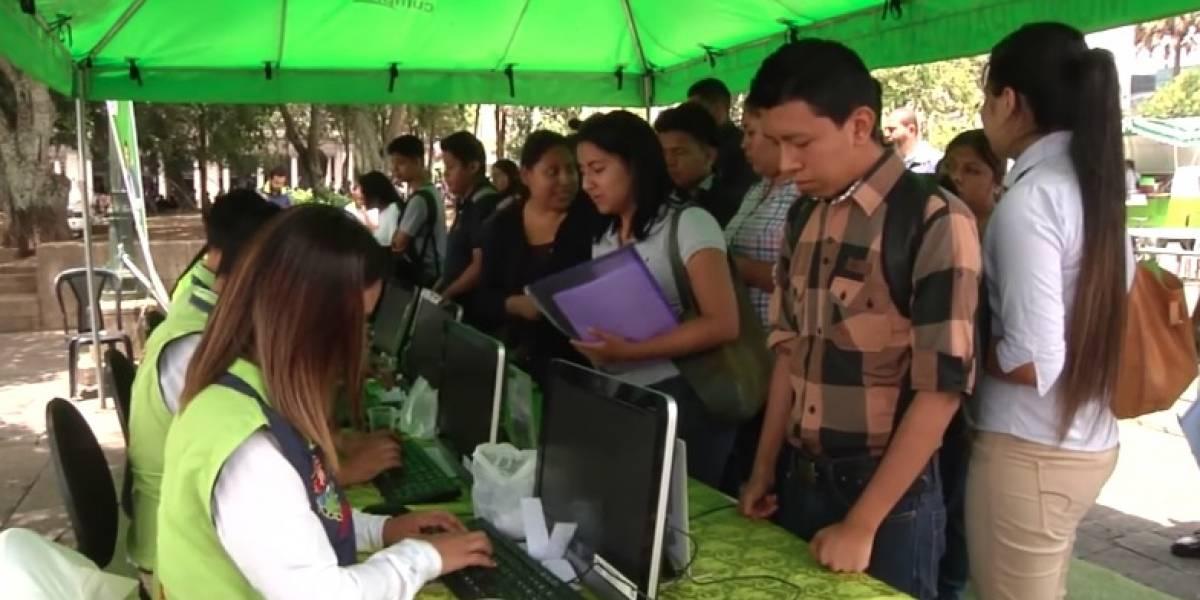 Anuncian feria de empleo en varias zonas de la Ciudad de Guatemala