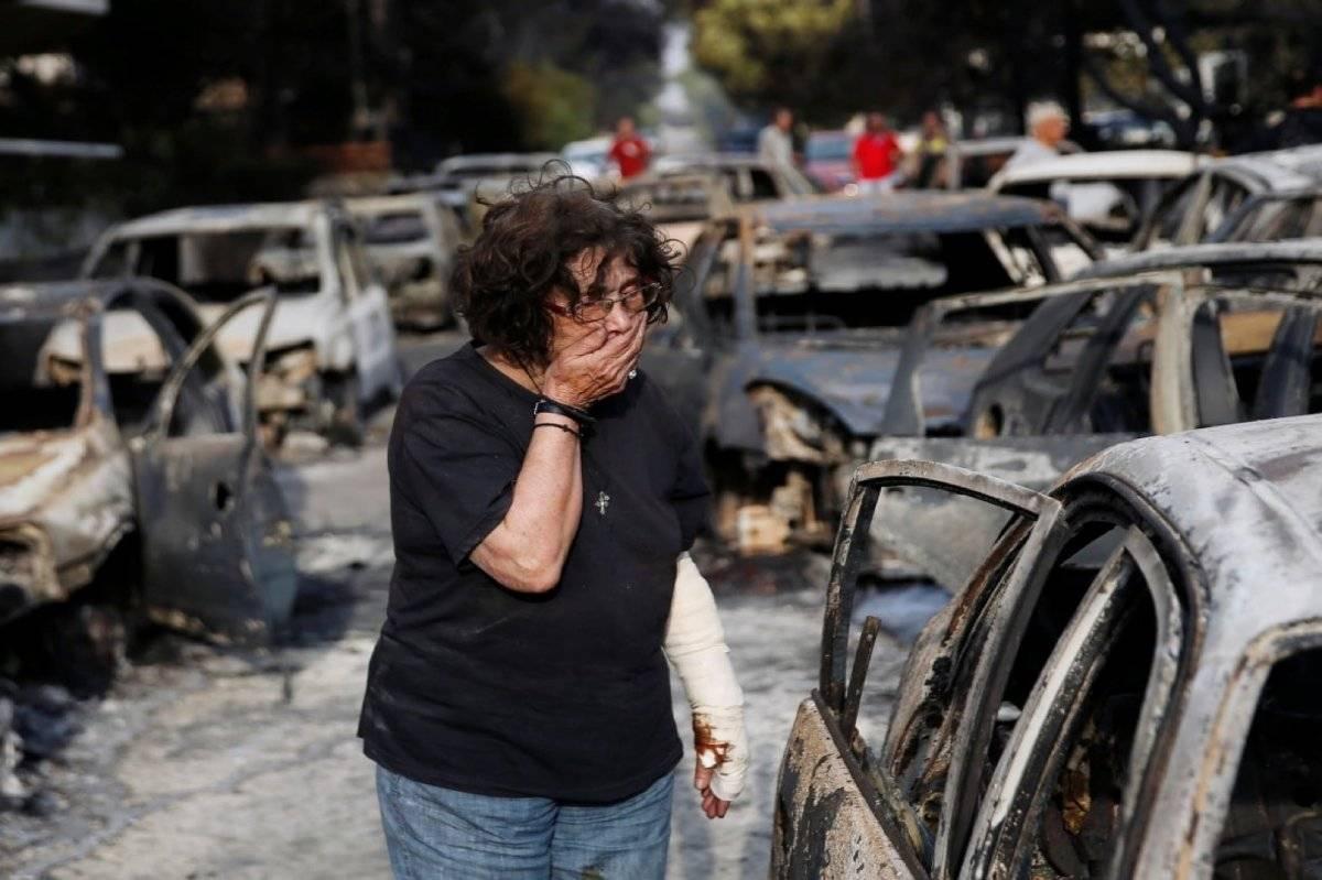 Incendio Grecia Carretera