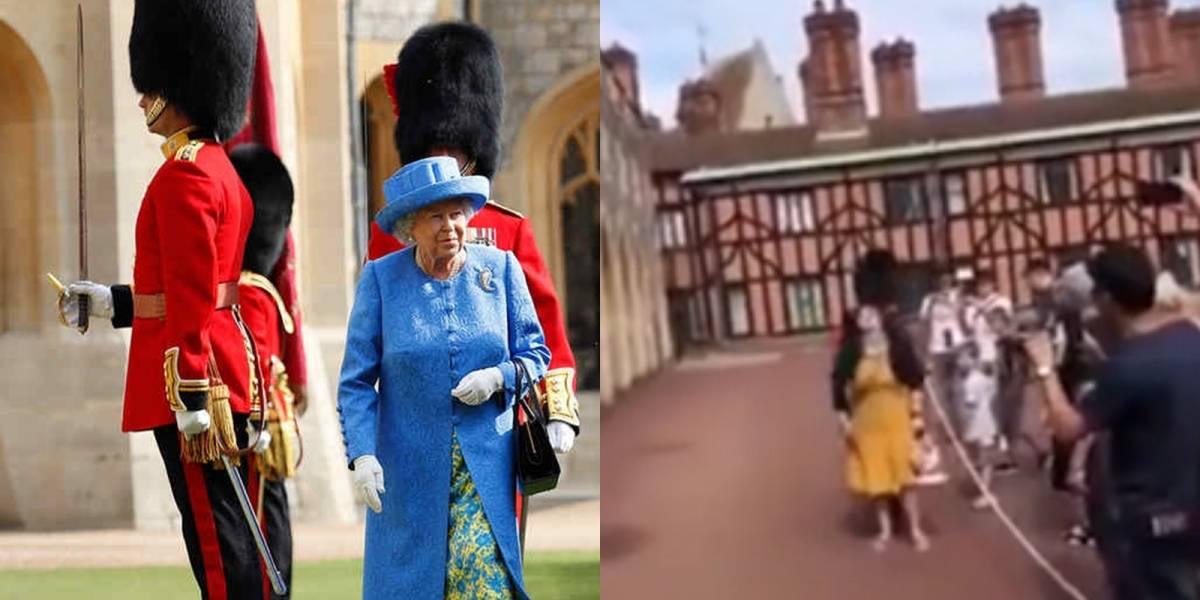 Video: Guardia Real empujó violentamente a una turista en Windsor