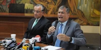 """Rafael Correa: """"Soy tan importante que me """"expulsan"""" de un movimiento que todavía no tiene afiliados"""