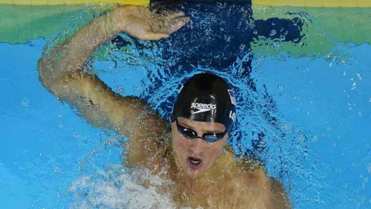 Ryan Lochte en competencia.