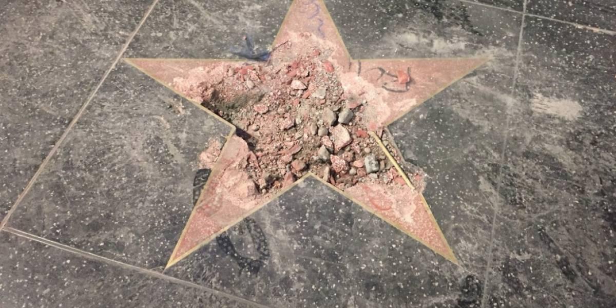Estrela de Trump na Calçada da Fama de Hollywood é destruída