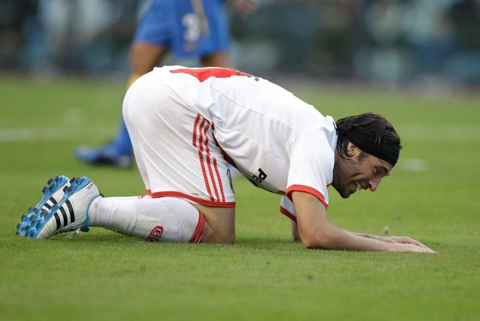 Mariano Pavone jugó en River Plate entre 2010 2011, siendo protagonista del histórico descenso del equipo millonario / Foto: AP