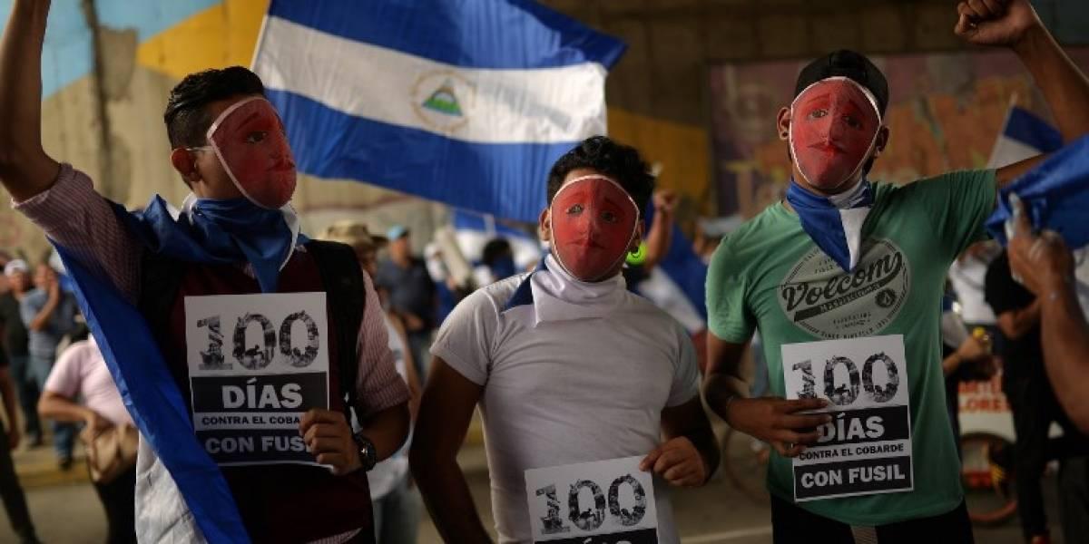 EN IMÁGENES. Estudiantes conmemoran 100 días de protestas en Nicaragua