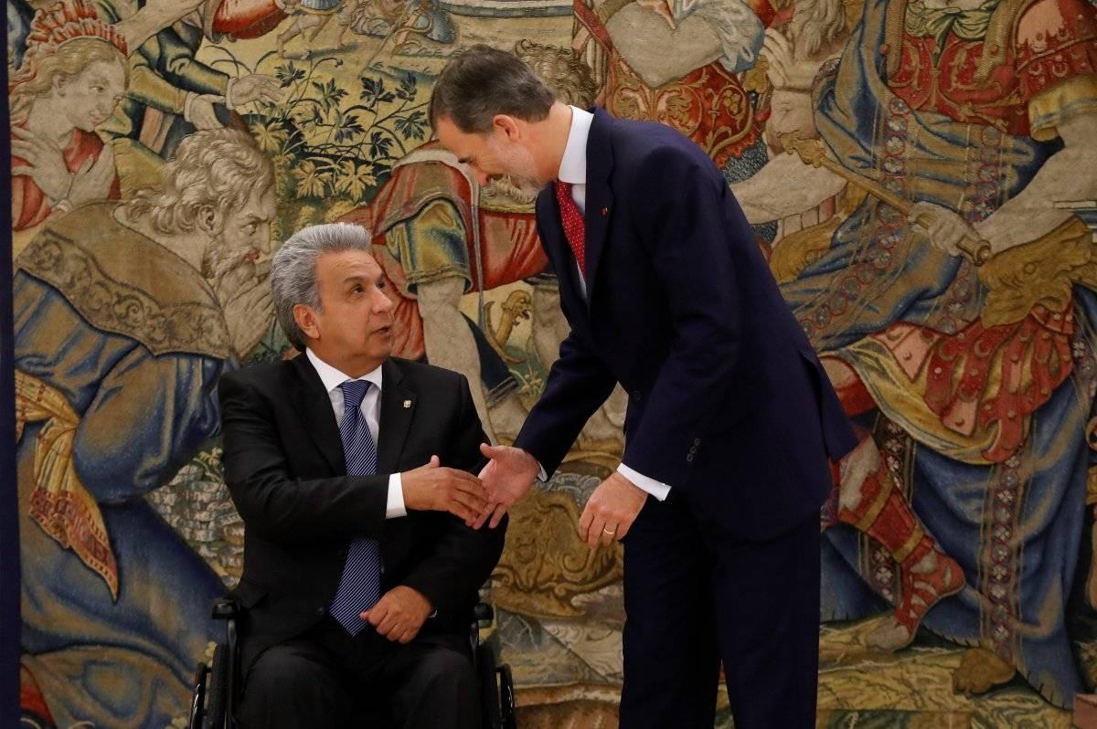 Lenin Moreno y Felipe VI de España se reunieron en el Palacio de la Zarzuela EFE