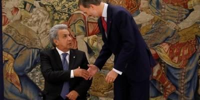 Lenin Moreno y Felipe VI de España se reunieron en el Palacio de la Zarzuela