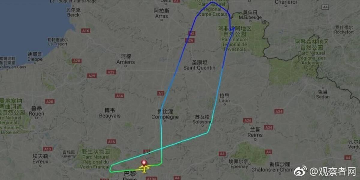 Avión de París a Beijing aterriza de emergencia por amenaza terrorista