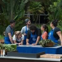 Com o desafio de criar pratos com alimentos orgânicos, Hugo e Maria Antonia ficaram no mesmo grupo durante prova em equipe