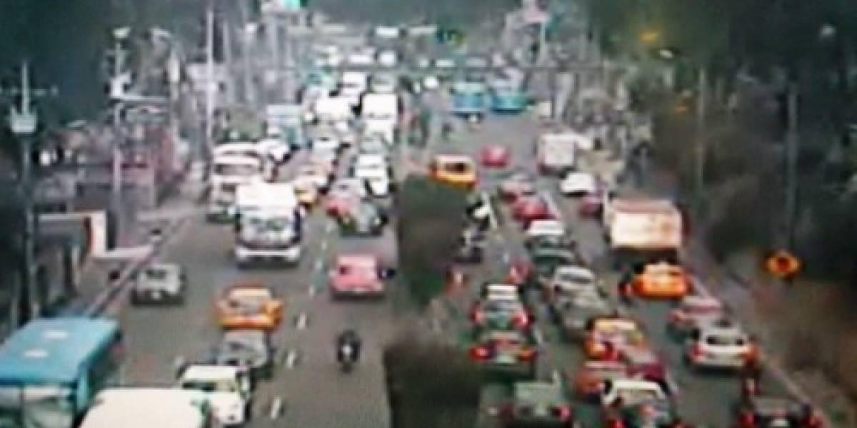 Cuatro heridos tras accidente en la Panamericana Norte, sector Calderón