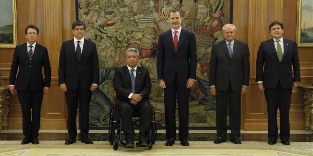 Lenin Moreno y Felipe VI de España se reunieron hoy en el Palacio de la Zarzuela
